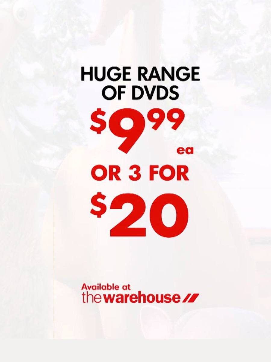 DVDs at The Warehouse